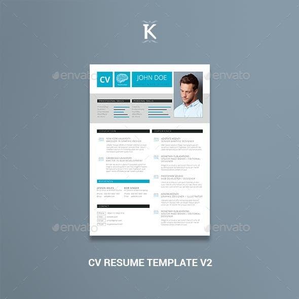 CV Resume Template v2