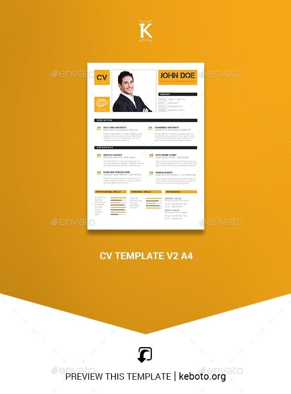 CV Template v2 A4 - Resumes Stationery