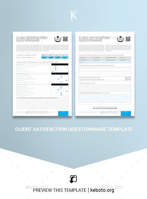 Client Satisfaction Questionnaire Template - Miscellaneous Print Templates