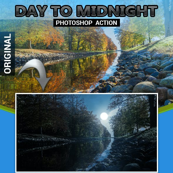 Day to Midnight Photoshop Action