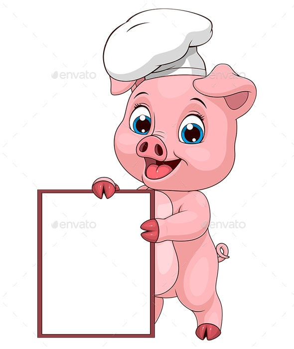 Pig Chef - Animals Characters