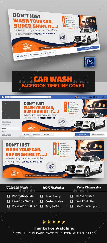 Car Wash Facebook Cover - Facebook Timeline Covers Social Media