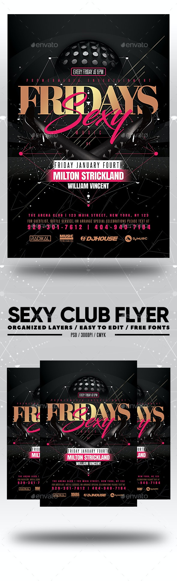 Sexy Club Flyer - Clubs & Parties Events