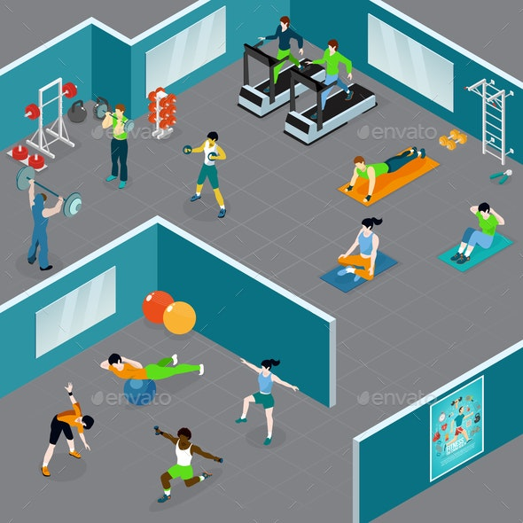 Gym Fitness Sports Composition - Sports/Activity Conceptual