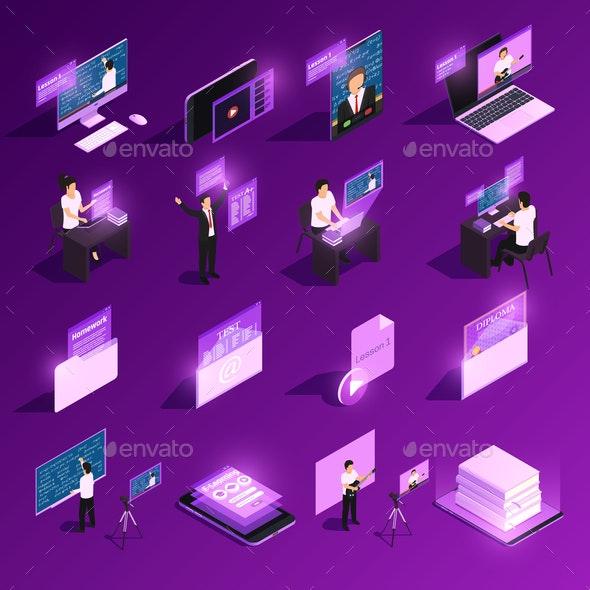 Online Education Icon Set - Miscellaneous Vectors
