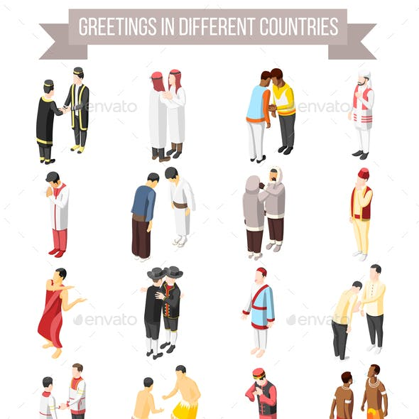 Greetings in Different Countries Icons