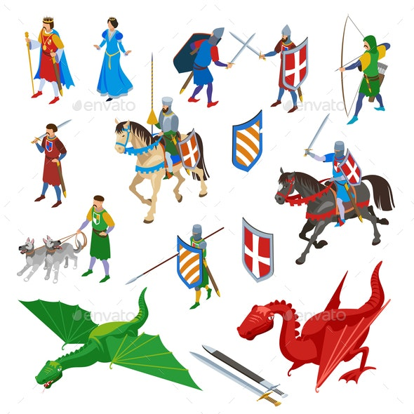 Medieval Isometric Icons Collection - Miscellaneous Vectors