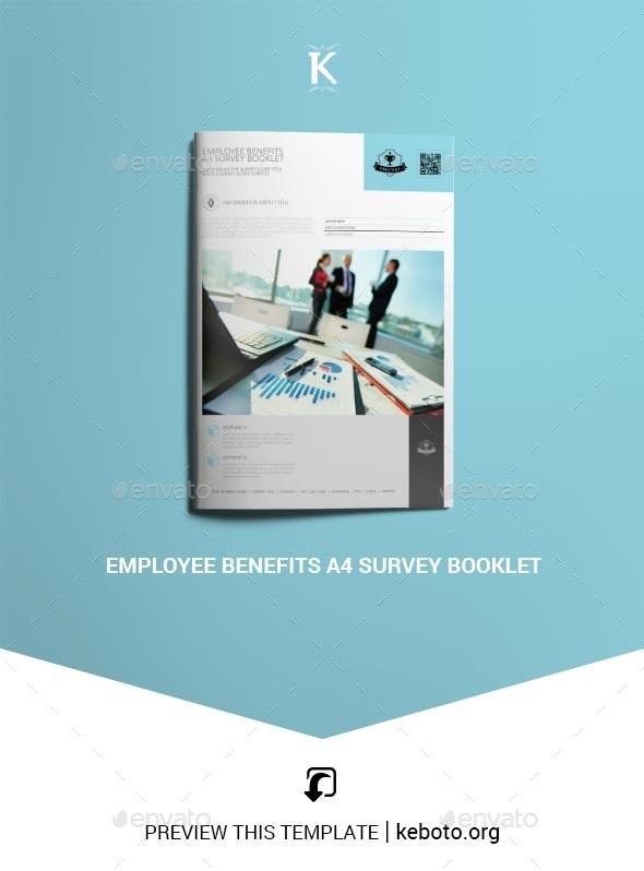 Employee Benefits A4 Survey Booklet - Miscellaneous Print Templates