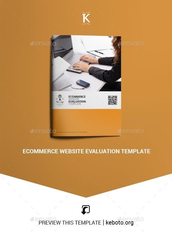 Ecommerce Website Evaluation Template - Miscellaneous Print Templates