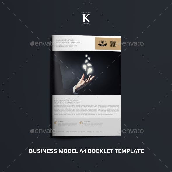 Business Model A4 Booklet Template