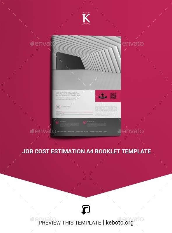 Job Cost Estimation A4 Booklet Template - Miscellaneous Print Templates