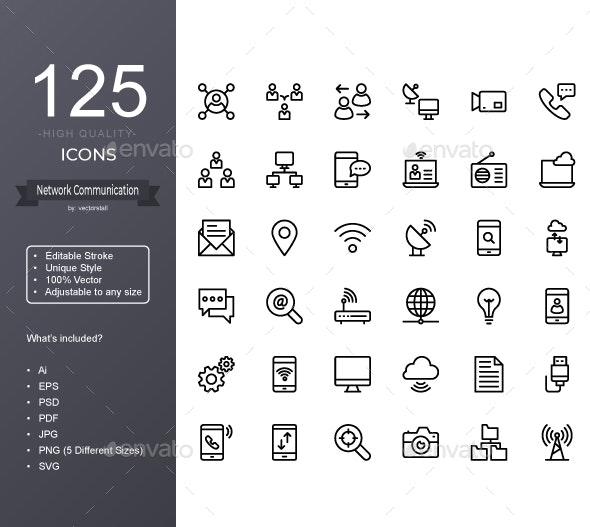 Network Communication - Icons