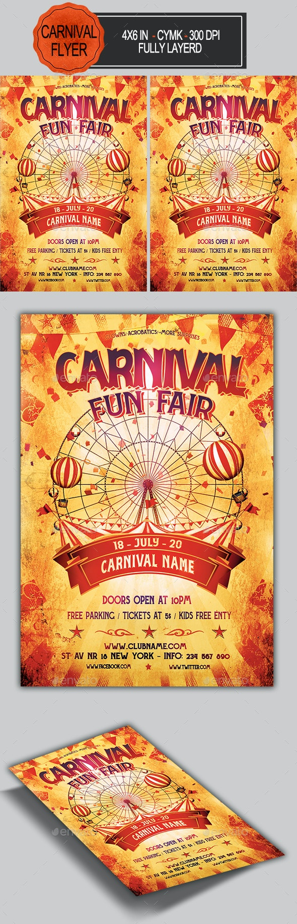 Funfair & Carnival Flyer - Events Flyers