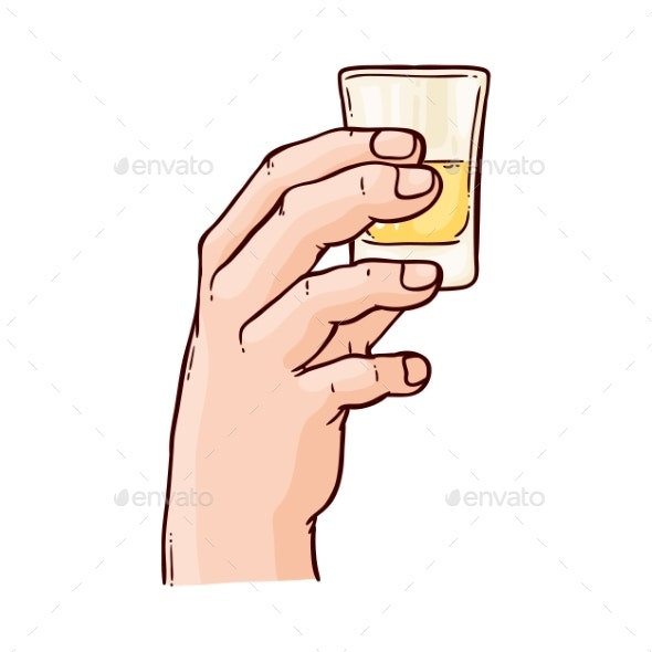 Vector Sketch Toasting Drink - Food Objects