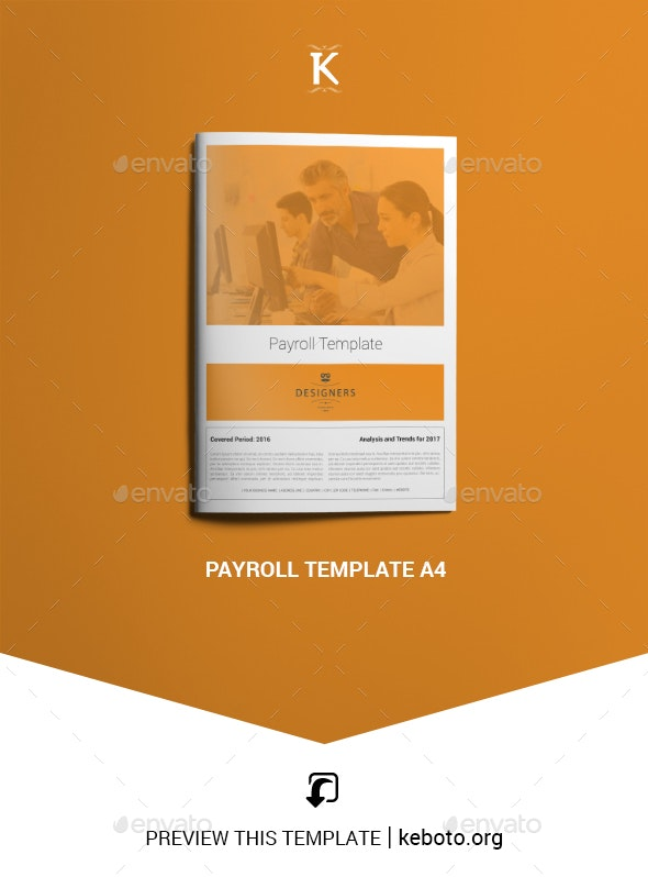 Payroll Template A4 - Miscellaneous Events