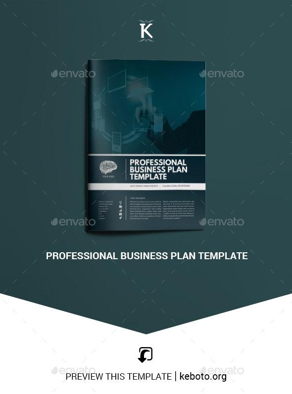 Professional Business Plan Template - Miscellaneous Print Templates