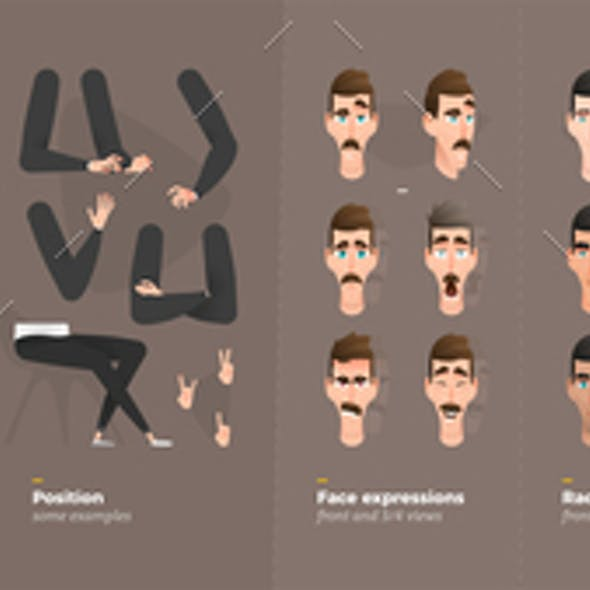 Cartoon Character Animation Set For Your Motion Design