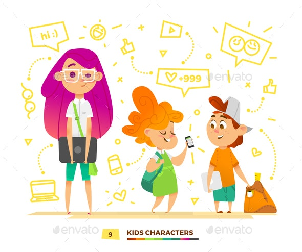 Pupils Characters Communication - People Characters