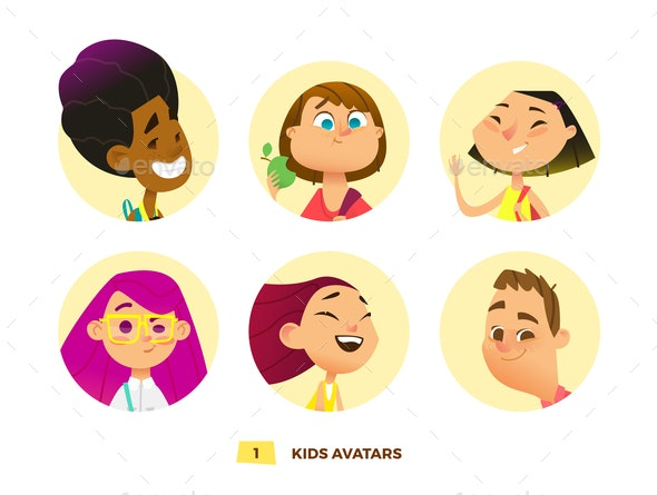 Pupils Avatars Collection - People Characters