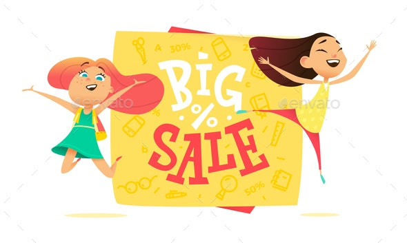 Big Sale Poster - People Characters