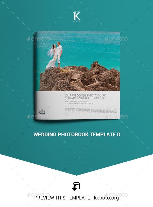 Wedding Photobook Template D - Photo Albums Print Templates
