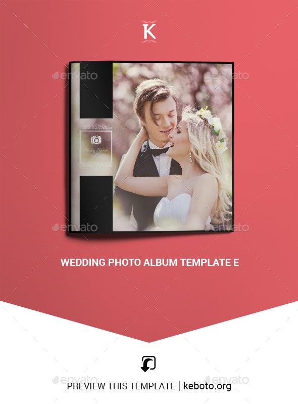 Wedding Photo Album Template E - Photo Albums Print Templates