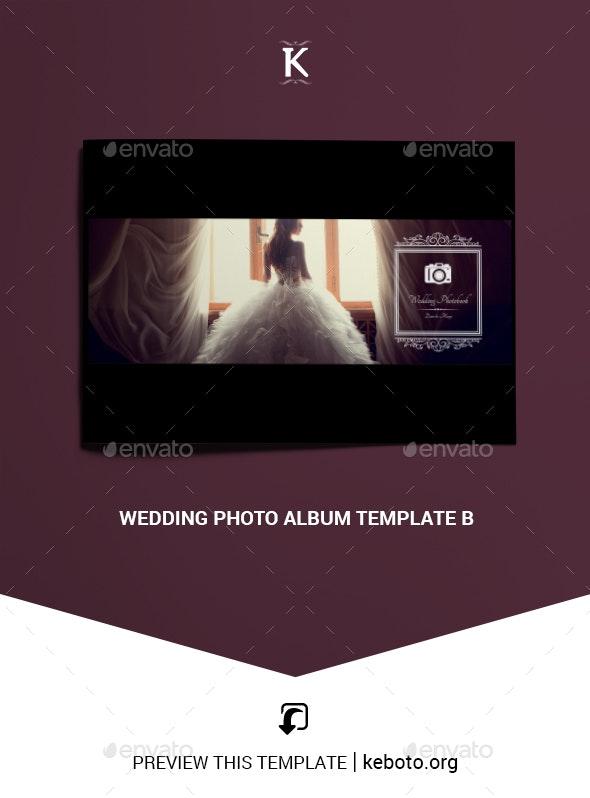 Wedding Photo Album Template B - Photo Albums Print Templates