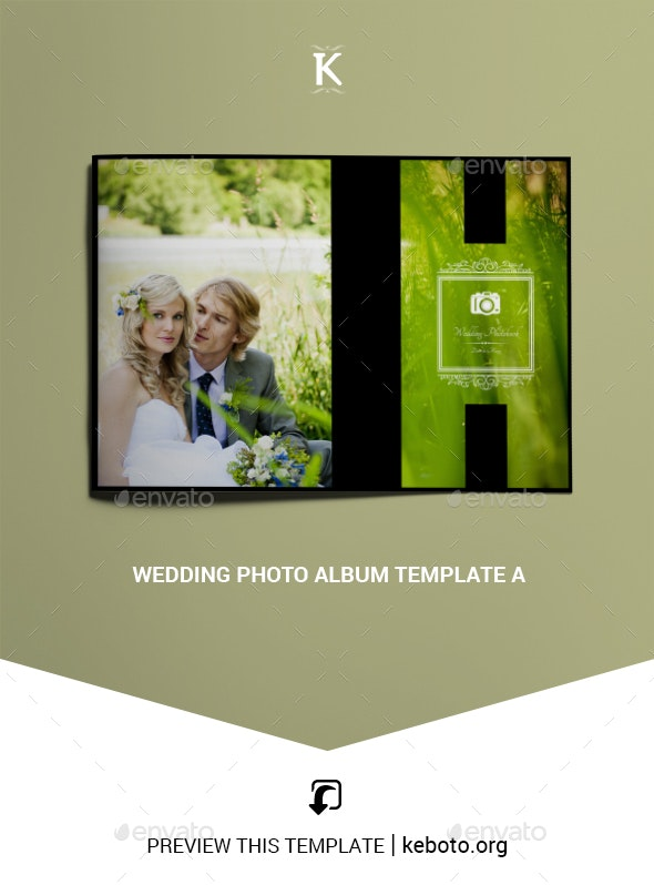 Wedding Photo Album Template A - Photo Albums Print Templates