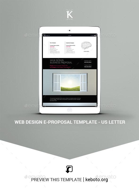 Web Design e-Proposal Template - US Letter - ePublishing