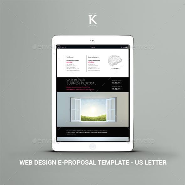 Web Design e-Proposal Template - US Letter