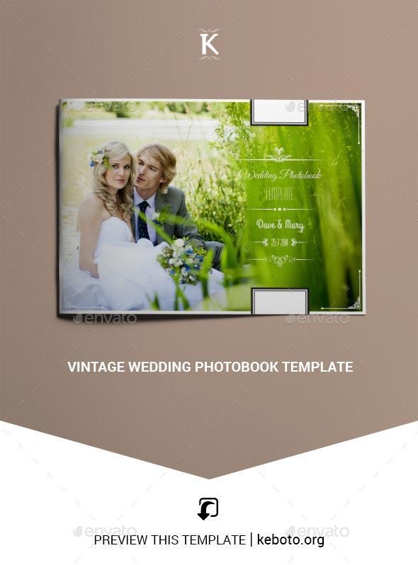 Vintage Wedding Photobook Template - Photo Albums Print Templates
