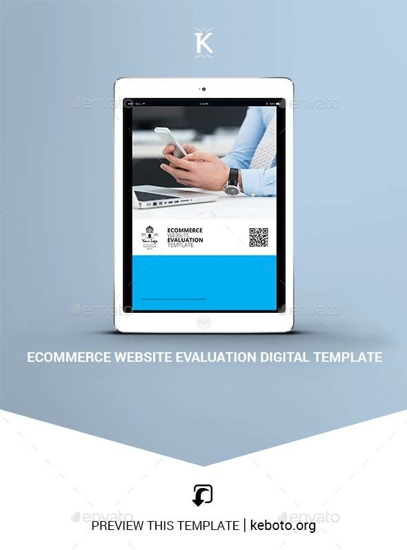 Ecommerce Website Evaluation Digital Template - ePublishing
