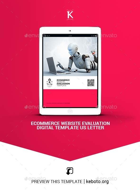 Ecommerce Website Evaluation Digital Temp - Letter - ePublishing