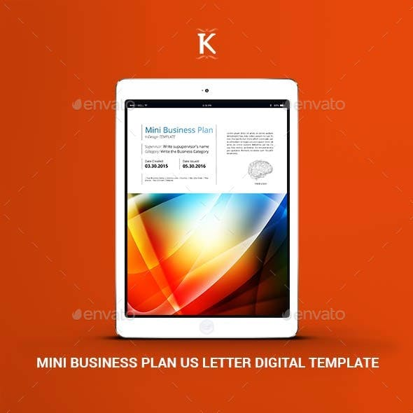 Mini Business Plan US Letter Digital Template