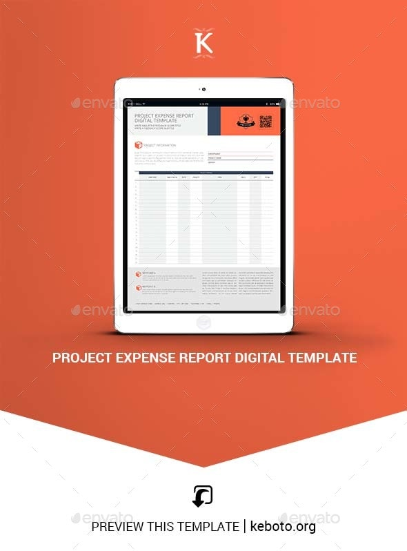 Project Expense Report Digital Template - ePublishing