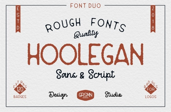 Hoolegan Font Duo - Handwriting Fonts