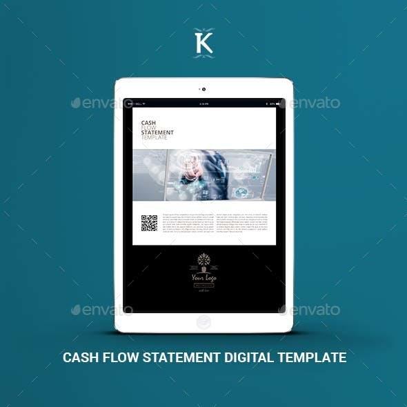 Cash Flow Statement Digital Template