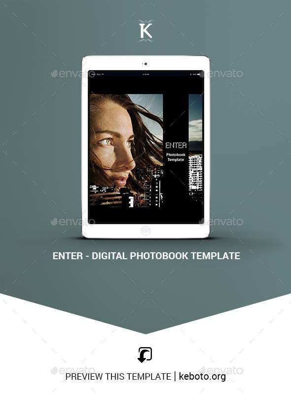 Enter - Digital Photobook Template - ePublishing