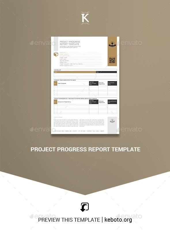 Project Progress Report Template - Miscellaneous Print Templates