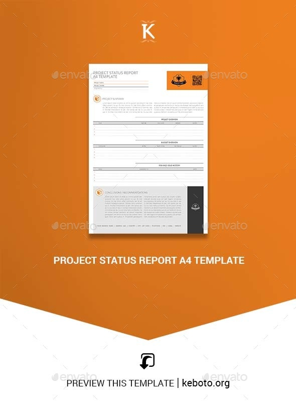 Project Status Report A4 Template - Miscellaneous Print Templates