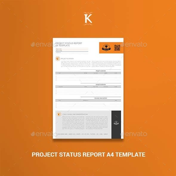 Project Status Report A4 Template