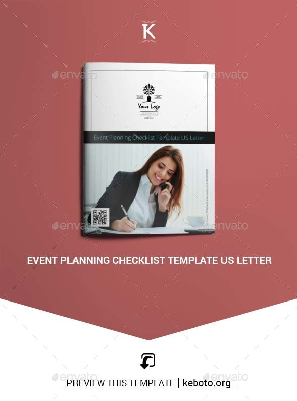 Event Planning Checklist Template US Letter - Miscellaneous Print Templates