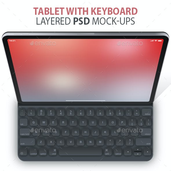 Clean Tablet Layered PSD Mock-ups