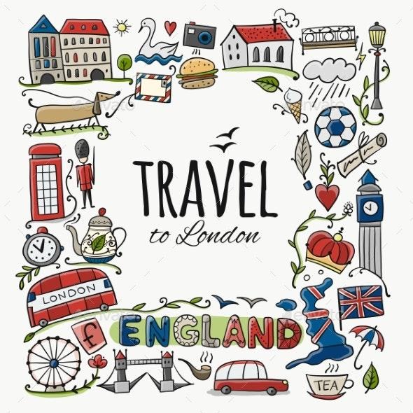 Travel To England - Miscellaneous Vectors