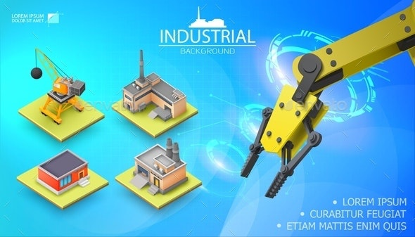 Modern Industrial Light Template - Buildings Objects