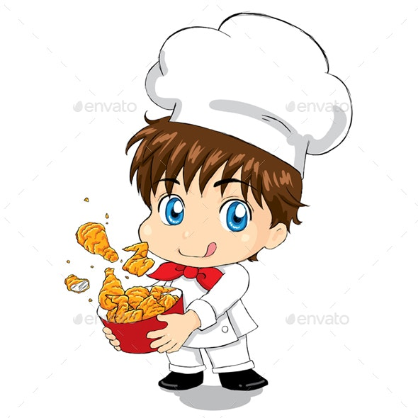 Little Chef - Fried Chicken - People Characters