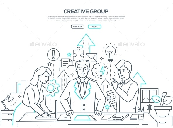 Creative Group - Modern Line Design Style Web - Concepts Business