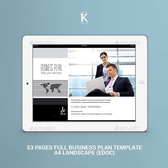 53 Pages Full Business Plan Template edoc