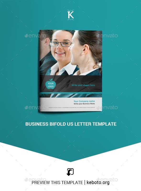 Business Bifold US Letter Template - Corporate Brochures