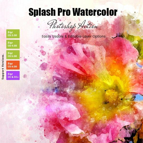 Splash Pro Watercolor Action